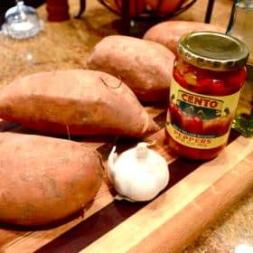 sweet potato pepper salad