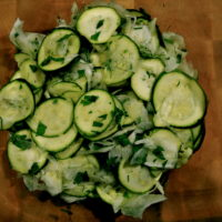 raw fennel and zucchini salad
