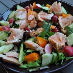 salmon mustard salad