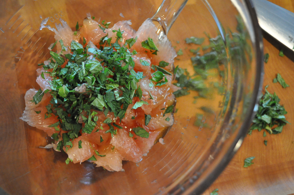 Pomelo and Mint Salad
