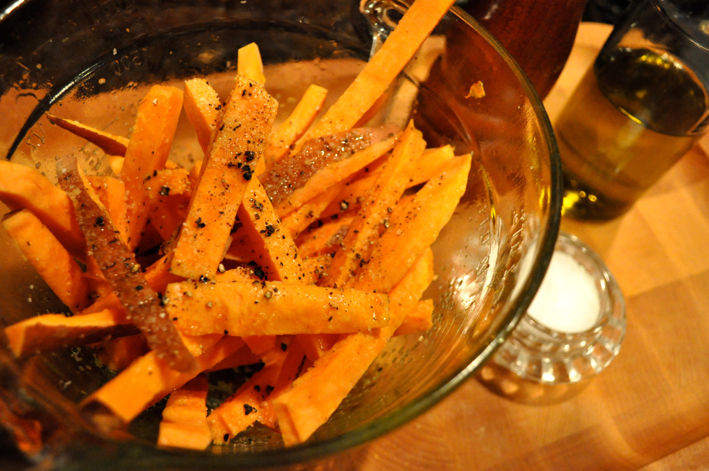 Thick Cut Sweet Potato Fries with Paleo Ketchup