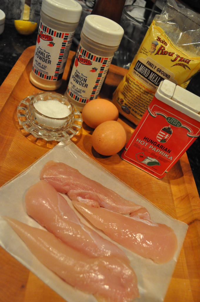 ingredients for paleo chicken fingers