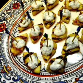 Pineapple Cilantro Goat Cheese Appetizer