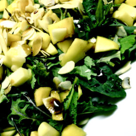 Baby Kale and Mango Salad