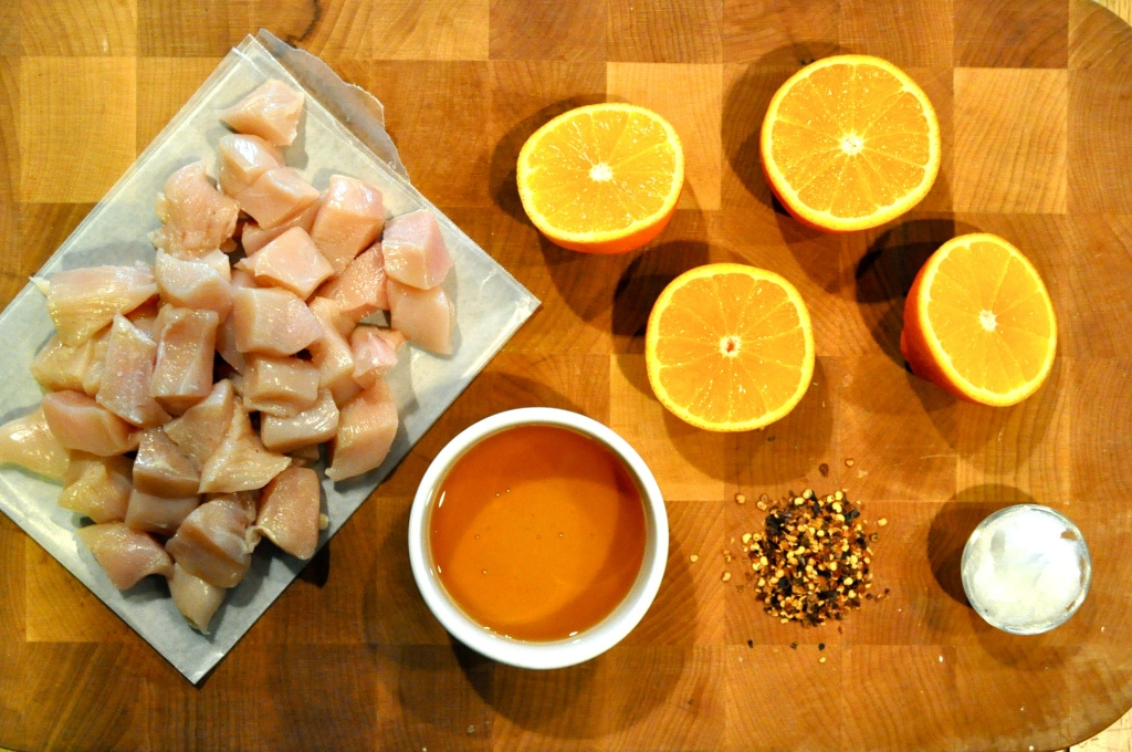 ingredients for orange chicken