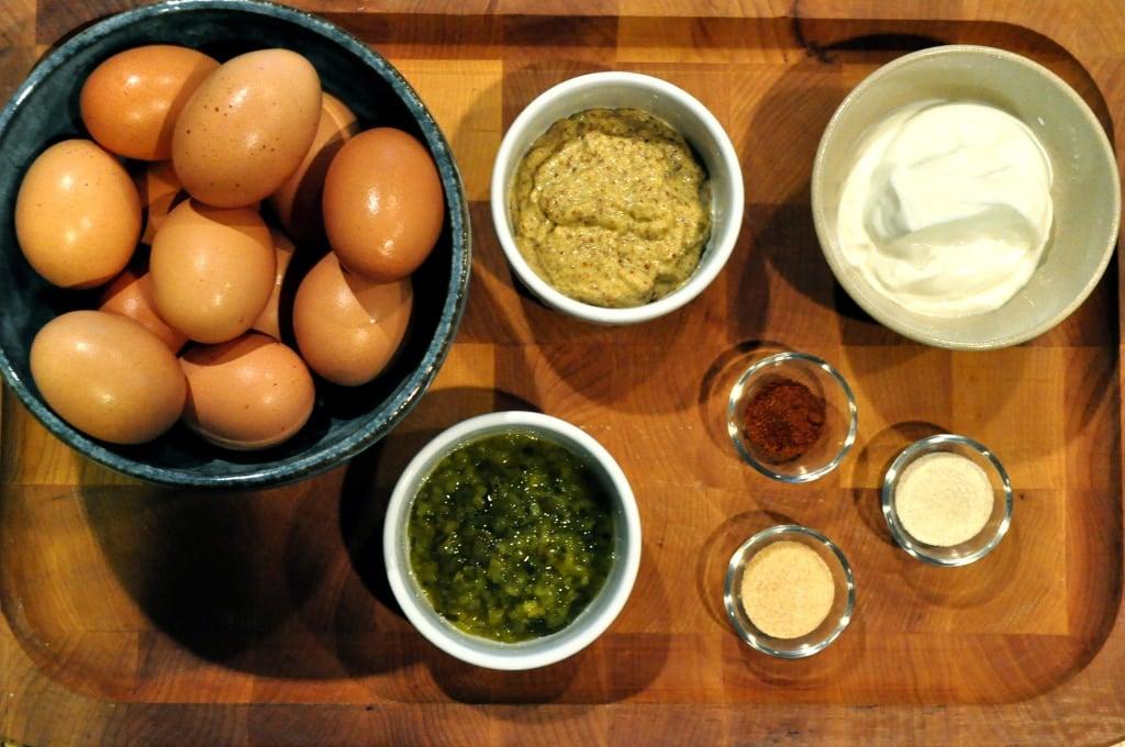 Paleo Deviled Eggs ingredients
