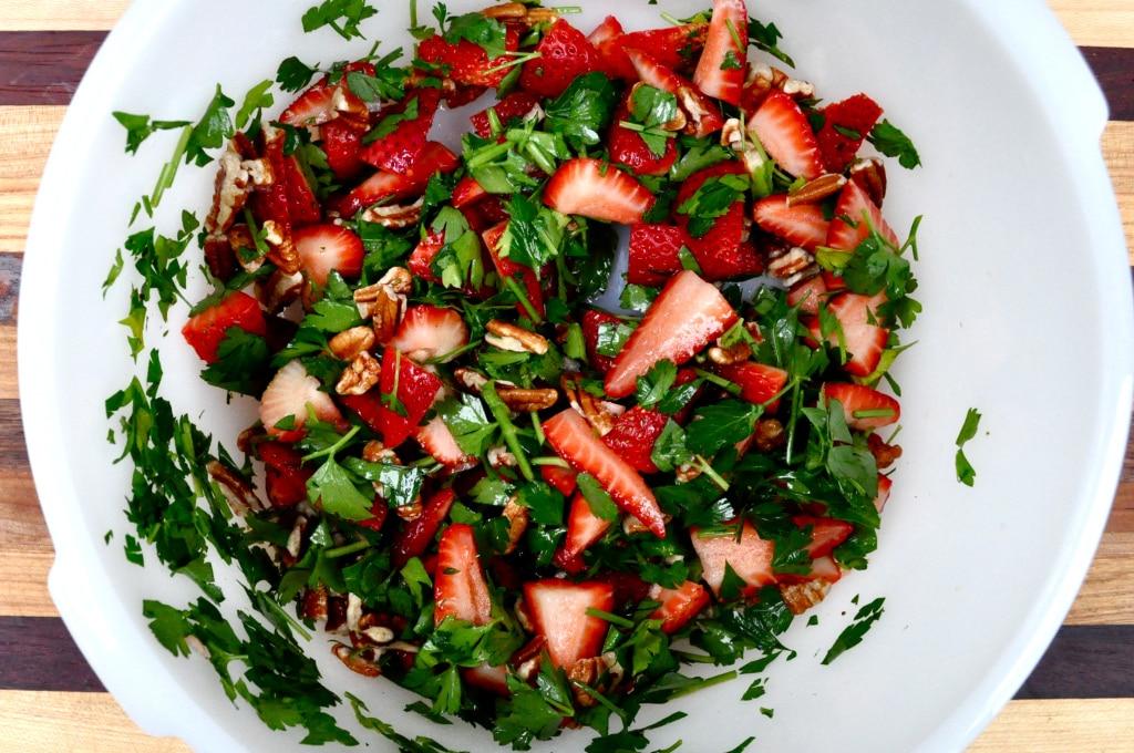 Strawberry Pecan Salad