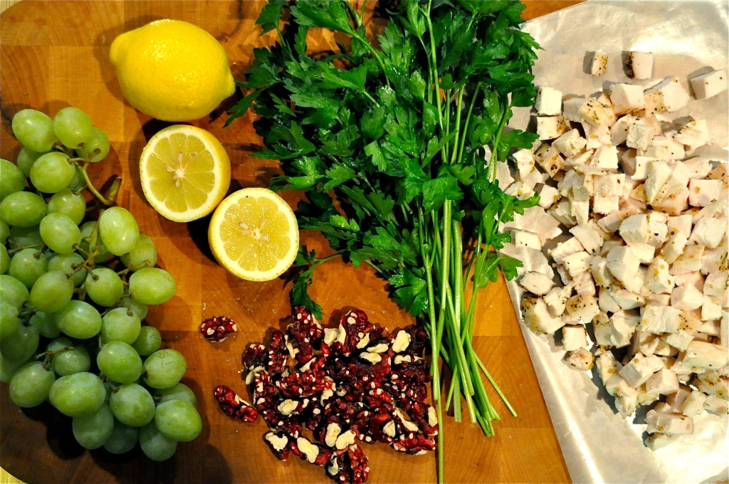 ingredients for paleo Sonoma chicken salad