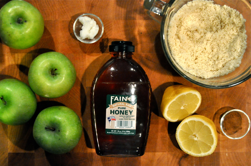 ingredients for paleo apple cobbler