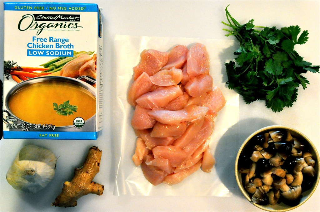 ingredients for ginger chicken soup