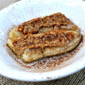 Baked Almond Butter Banana