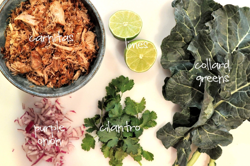 ingredients for paleo pork carnitas tacos