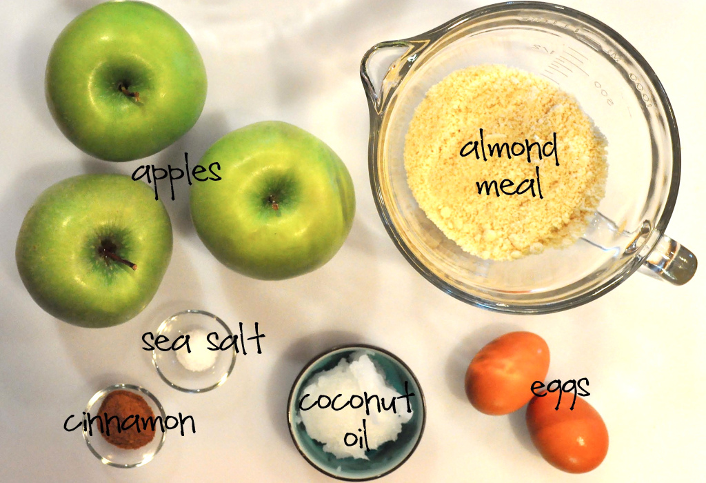 ingredients for paleo apple fritters