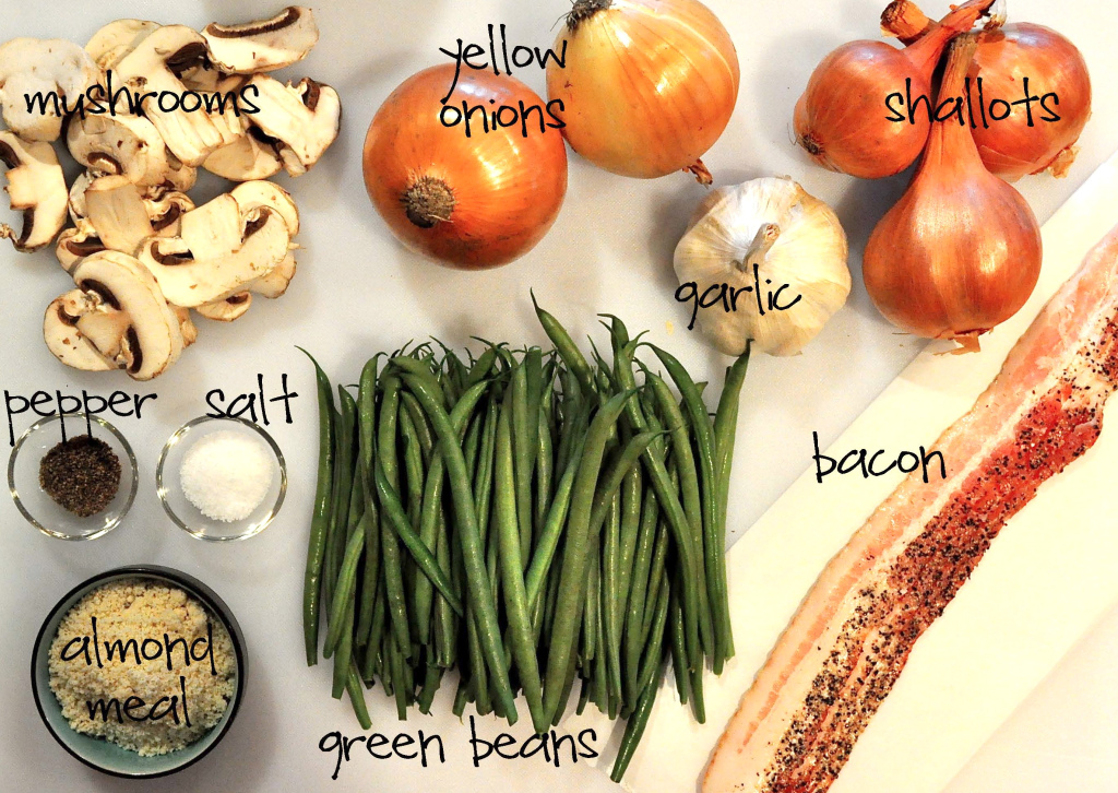 ingredients for paleo green bean casserole