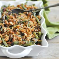 This Paleo Green Bean Casserole will please everyone at your holiday table and is totally gluten and dairy free!