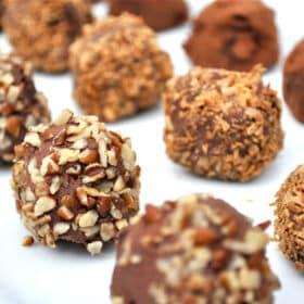 Paleo Dark Chocolate Truffles