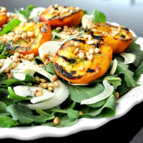 Grilled Peach & Fennel Salad