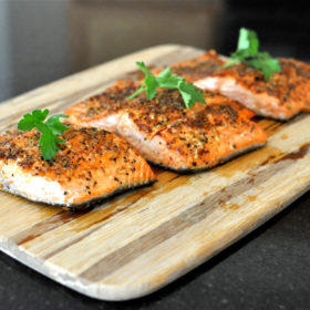 Pan Seared Peppered Salmon