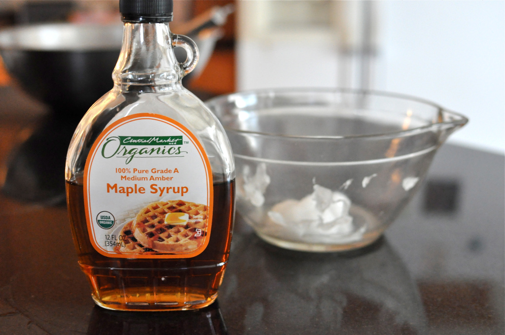 Maple syrup for Paleo blueberry scones