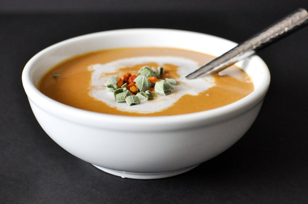Creamy Paleo Bacon Pumpkin Soup | Fed and Fit-4