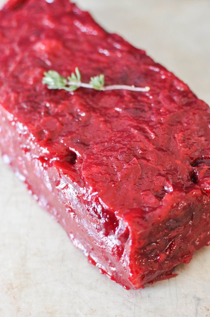easy homemade paleo cranberry sauce loaf