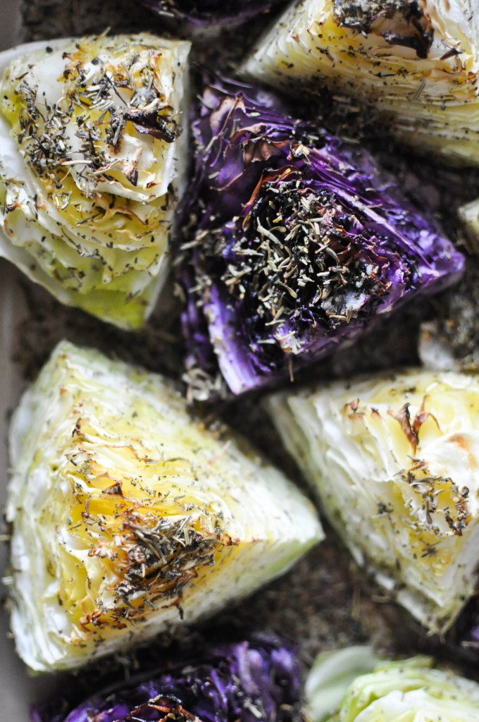 Gather's Roasted Green and Purple Cabbage | Fed+Fit-1