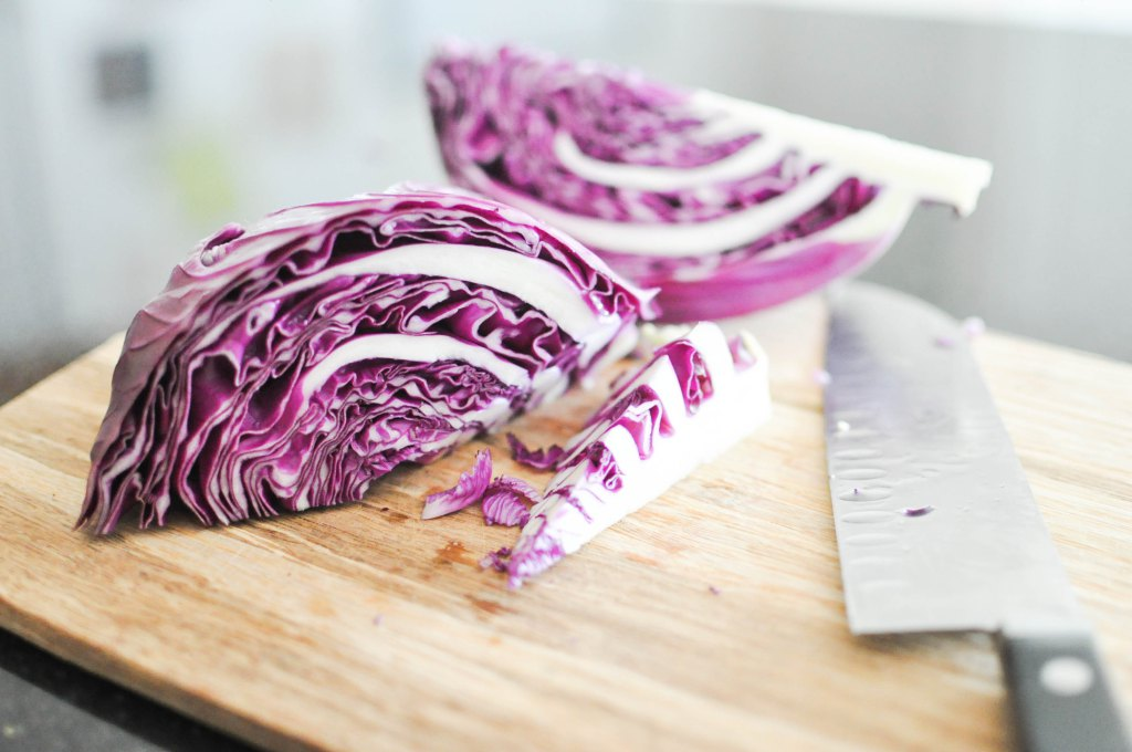 Gather's Roasted Green and Purple Cabbage | Fed+Fit-14