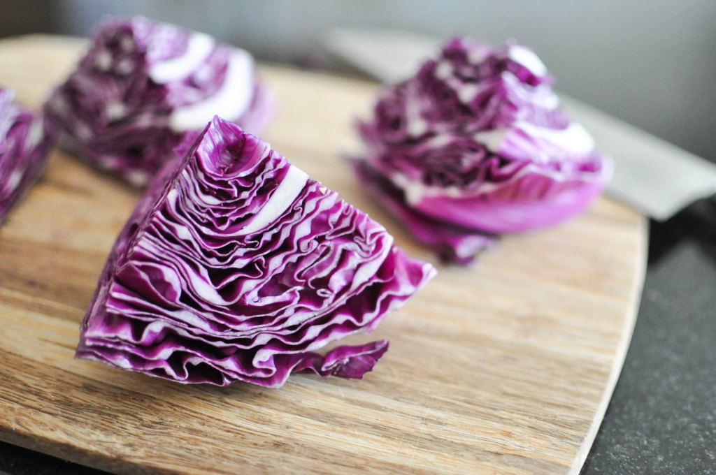 Gather's Roasted Green and Purple Cabbage | Fed+Fit-15