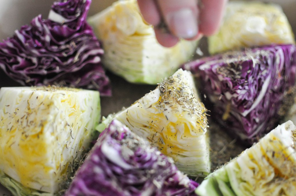 Gather's Roasted Green and Purple Cabbage | Fed+Fit-20