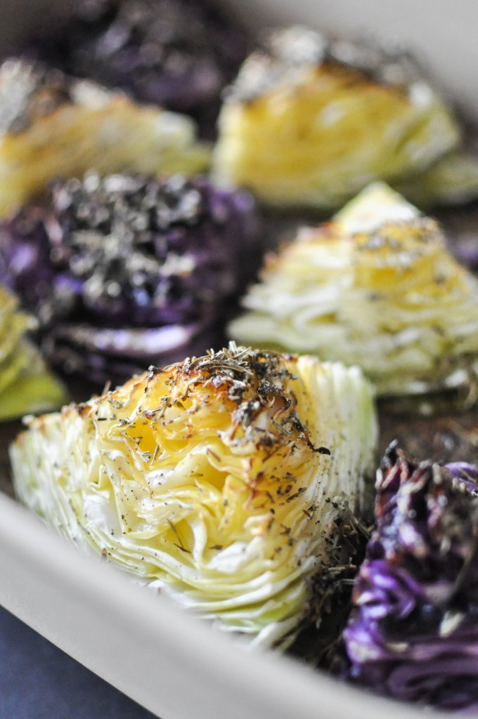 Gather's Roasted Green and Purple Cabbage | Fed+Fit-22
