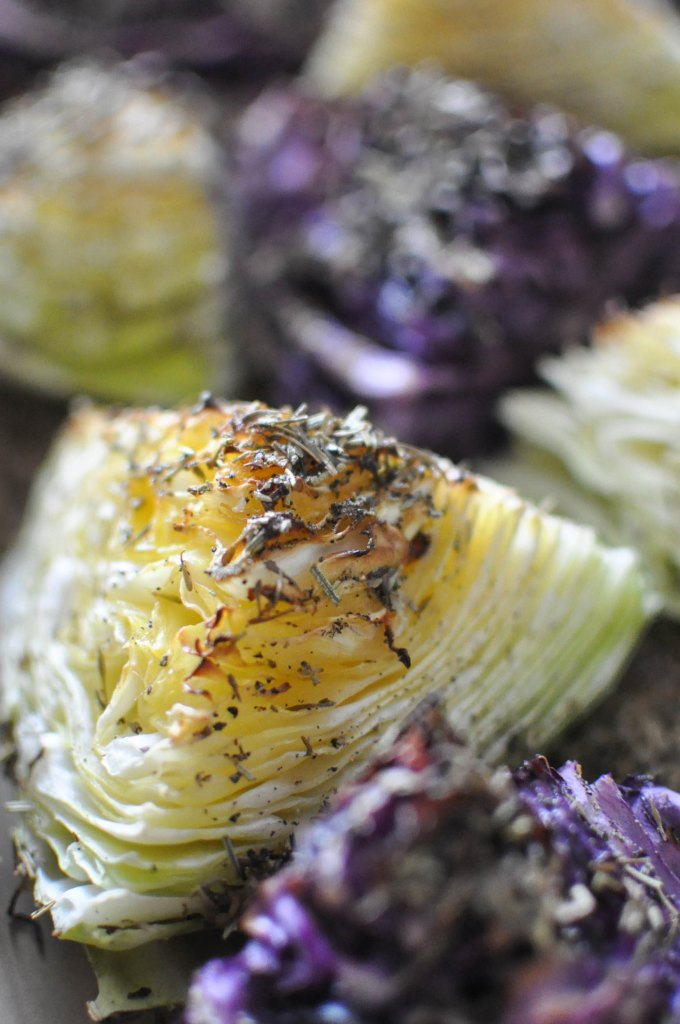 Gather's Roasted Green and Purple Cabbage | Fed+Fit-4