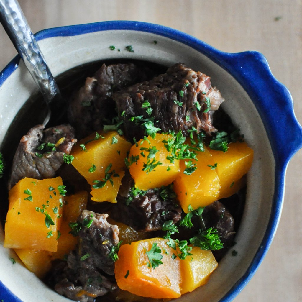 Paleo Winter Squash and Beef Stew | Fed+Fit-35