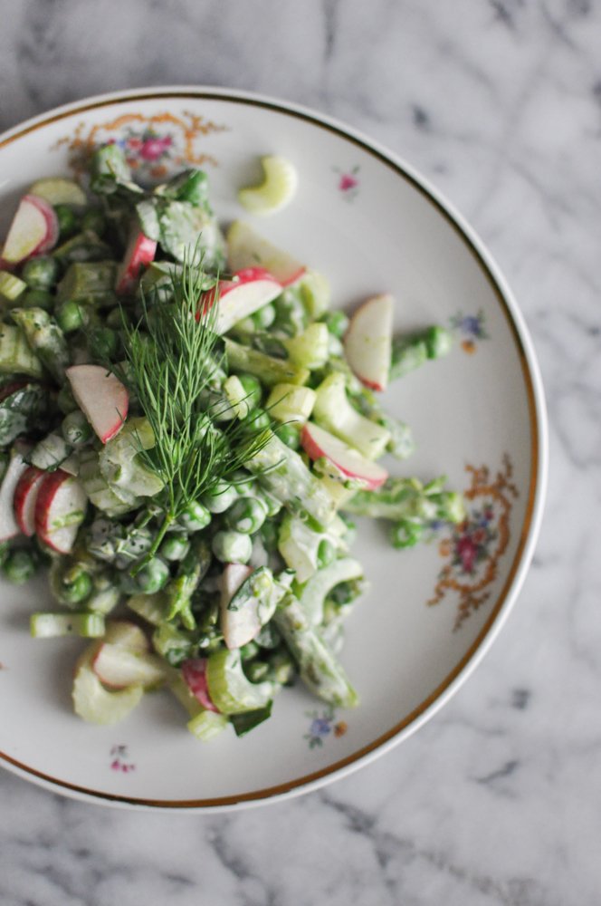 Spring Vegetable Salad | Fed and Fit-1