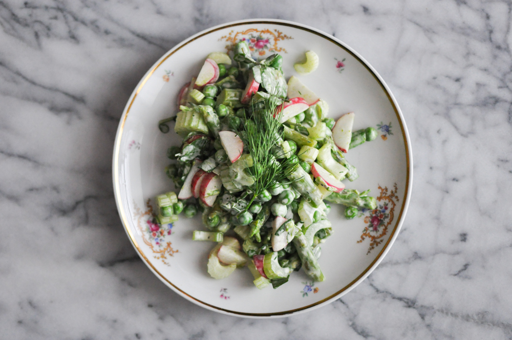 Spring Vegetable Salad | Fed and Fit-2