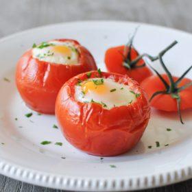 Baked Tomato Eggs
