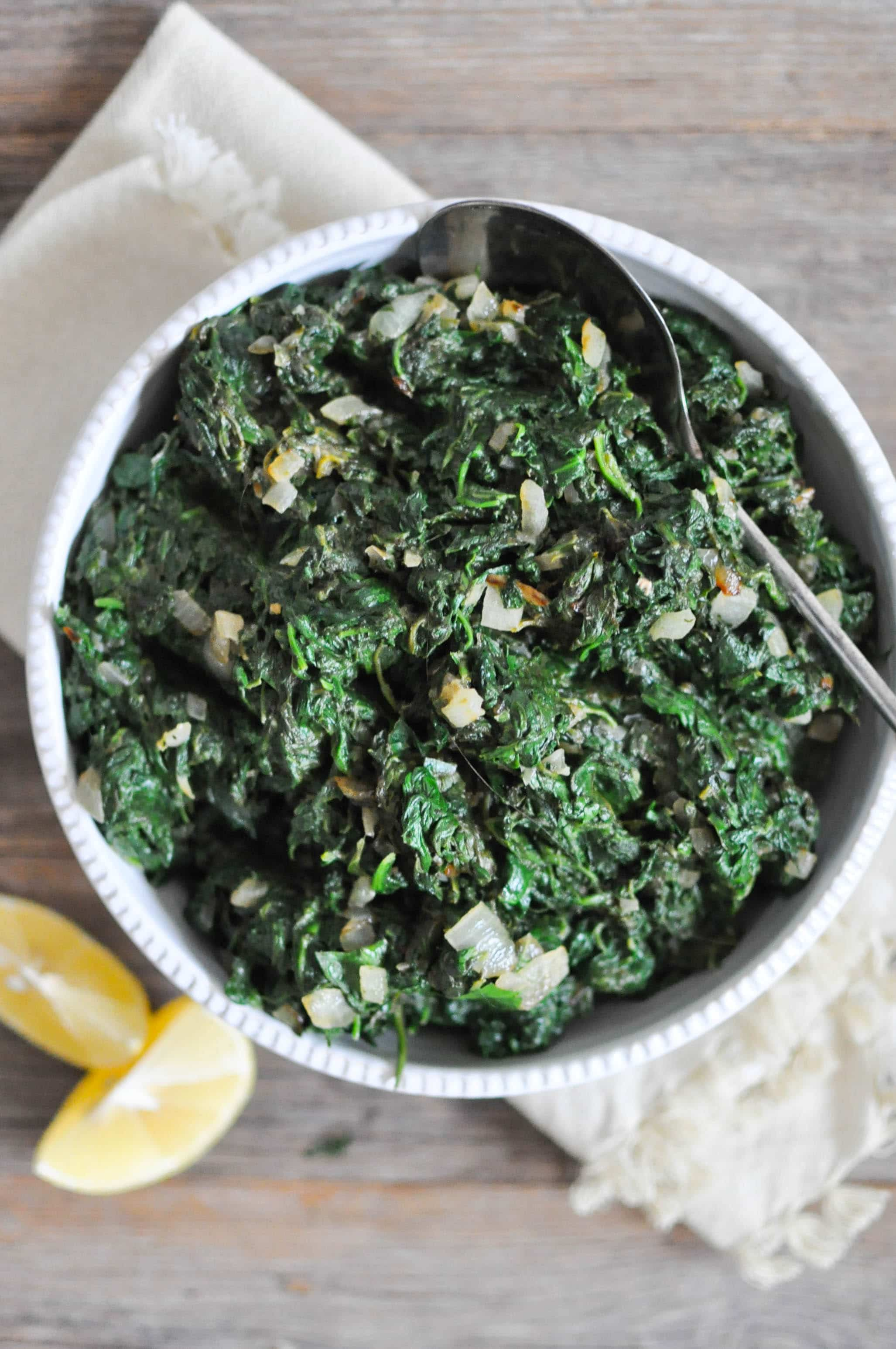 Paleo Creamed Spinach | Fed+Fit-3