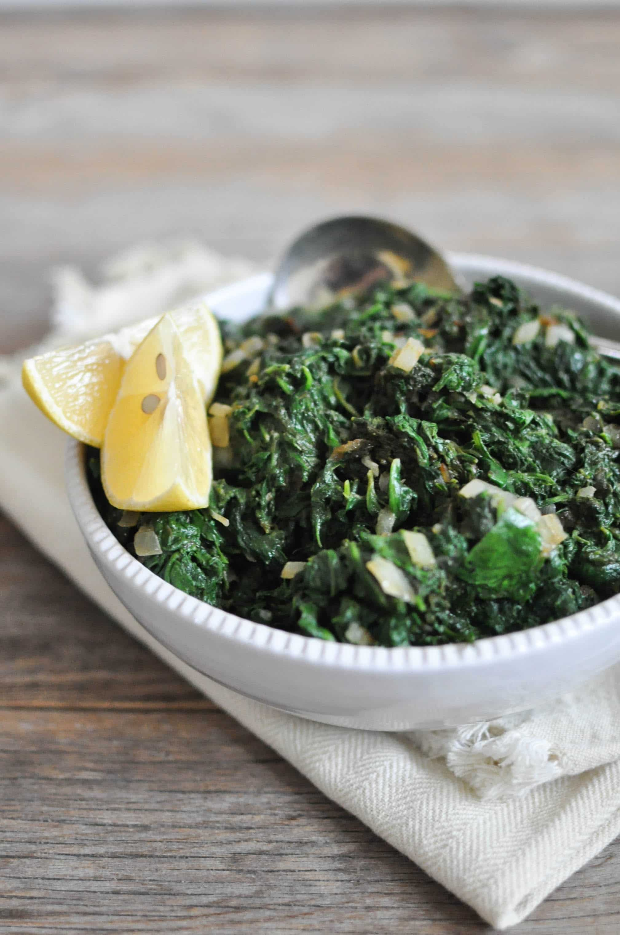 Paleo Creamed Spinach | Fed+Fit