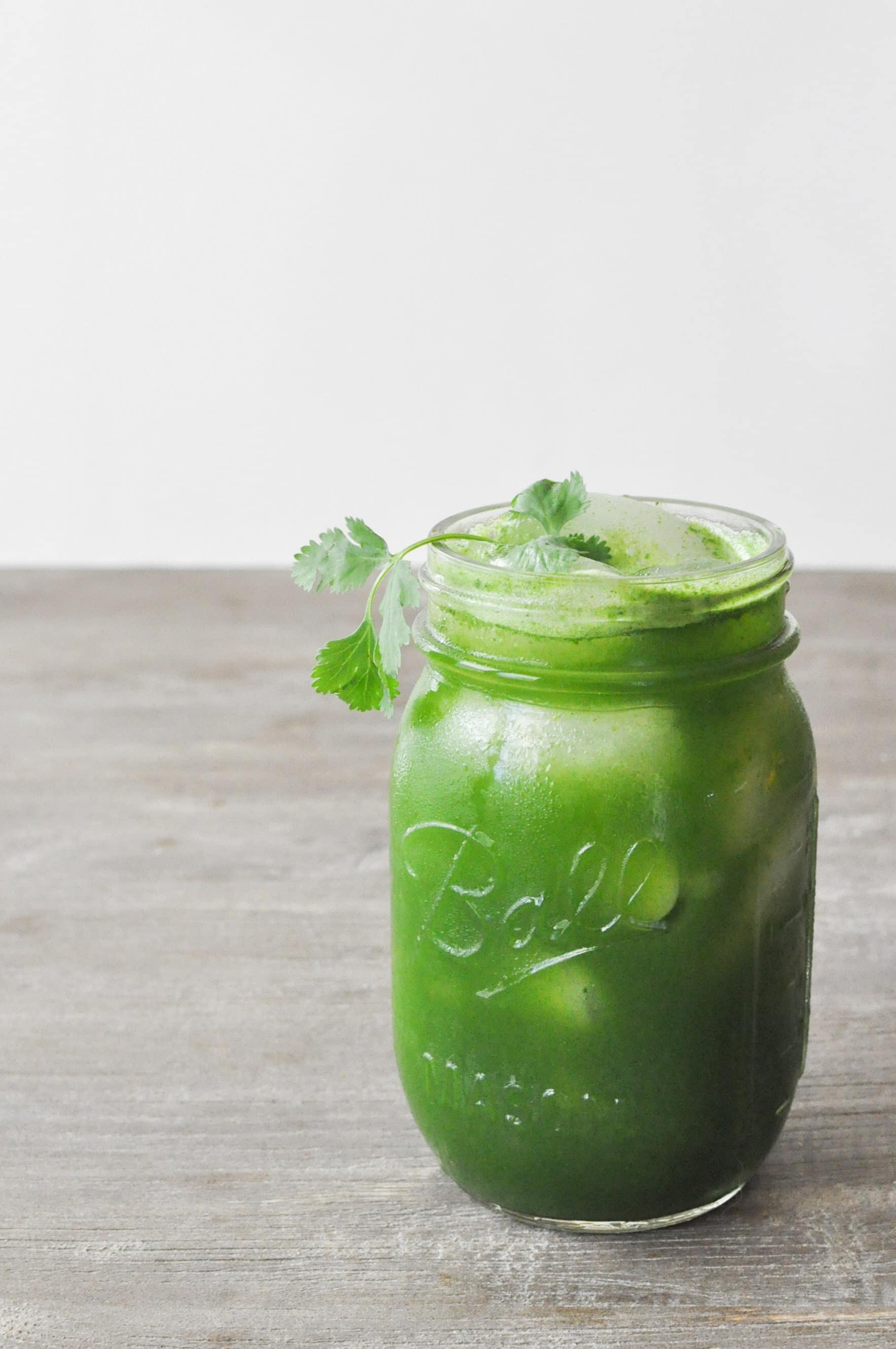 lemon ginger green juice
