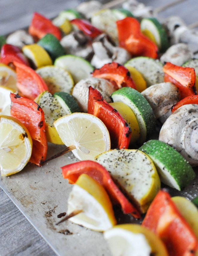 Lemon Pepper Vegetable Skewers