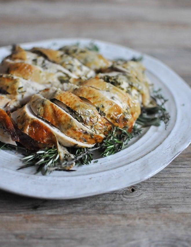 gluten free thanksgiving recipes - herb garden turkey breast