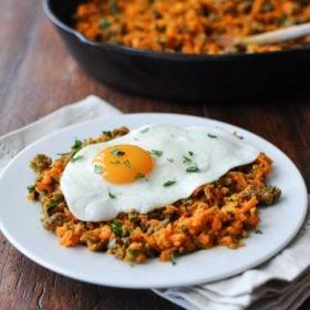 Shredded Carrot Breakfast Hash