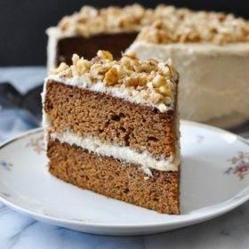 Paleo Carrot Cake w/ Cream Cheese Frosting