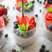 Red White and Blue Chia Puddings