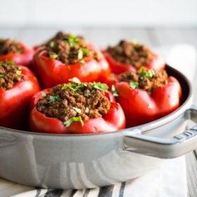 Curried Beef & Butternut Stuffed Peppers