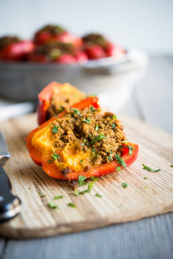 Curried Beef & Butternut Squash Stuffed Peppers-3