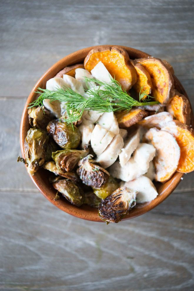 paleo chicken and sweet potato breakfast bowls