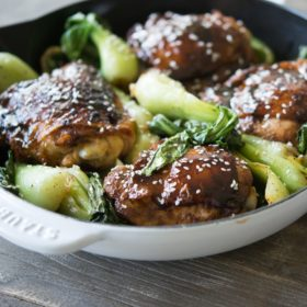 Paleo Teriyaki Chicken Thighs with Bok Choy
