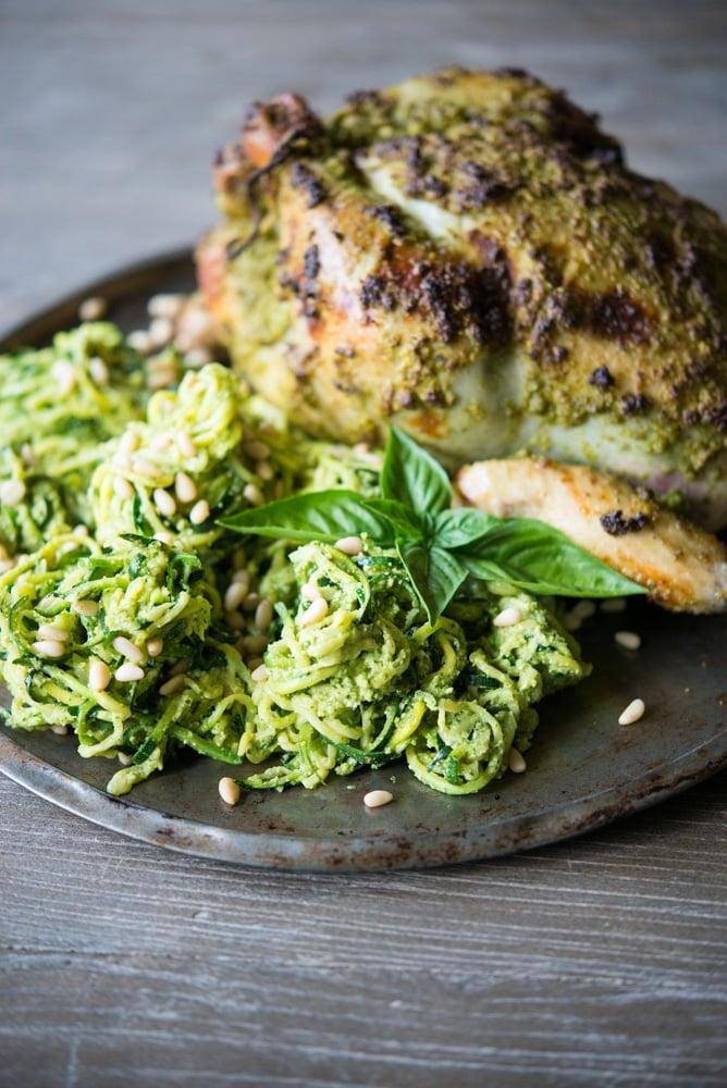Fennel Pesto Chicken & Zucchini Spaghetti