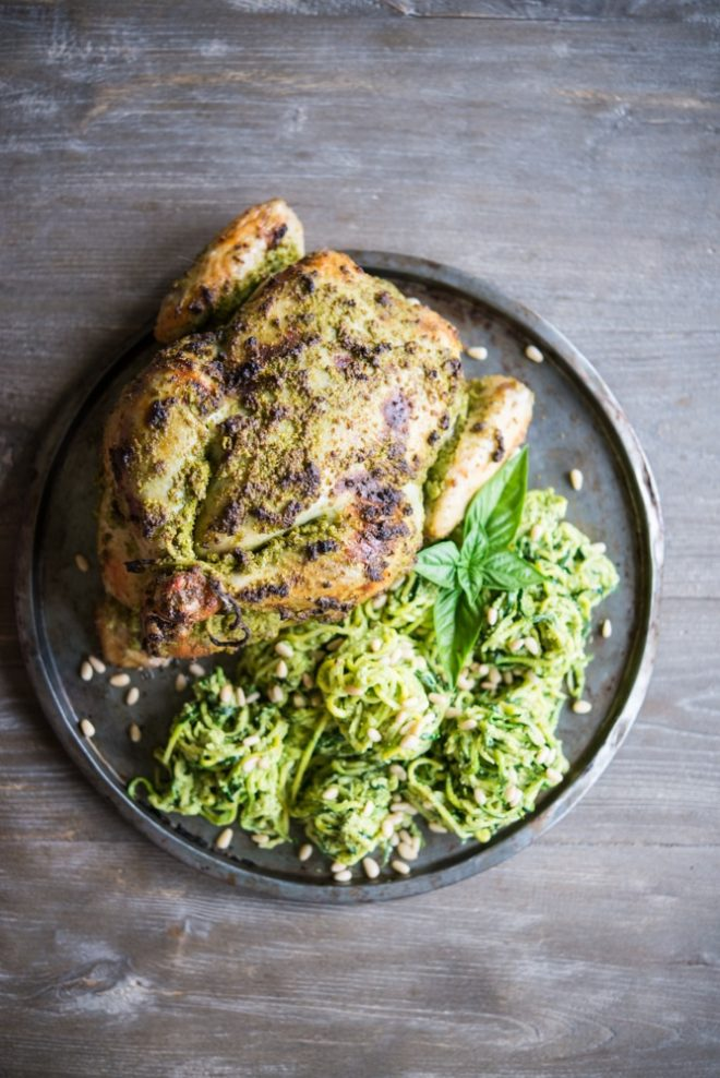 Fennel Pesto Chicken and Pasta