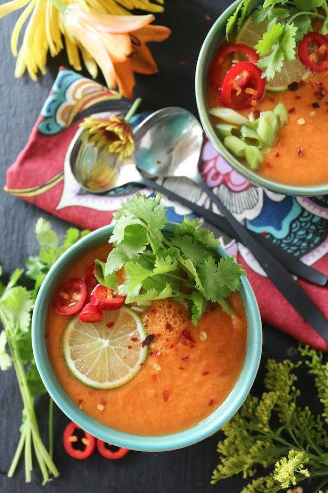 Thai carrot and cucumber gazpacho from Paleomg